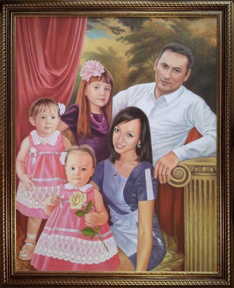 Семейный портрет маслом в Ижевске — правильная традиция…