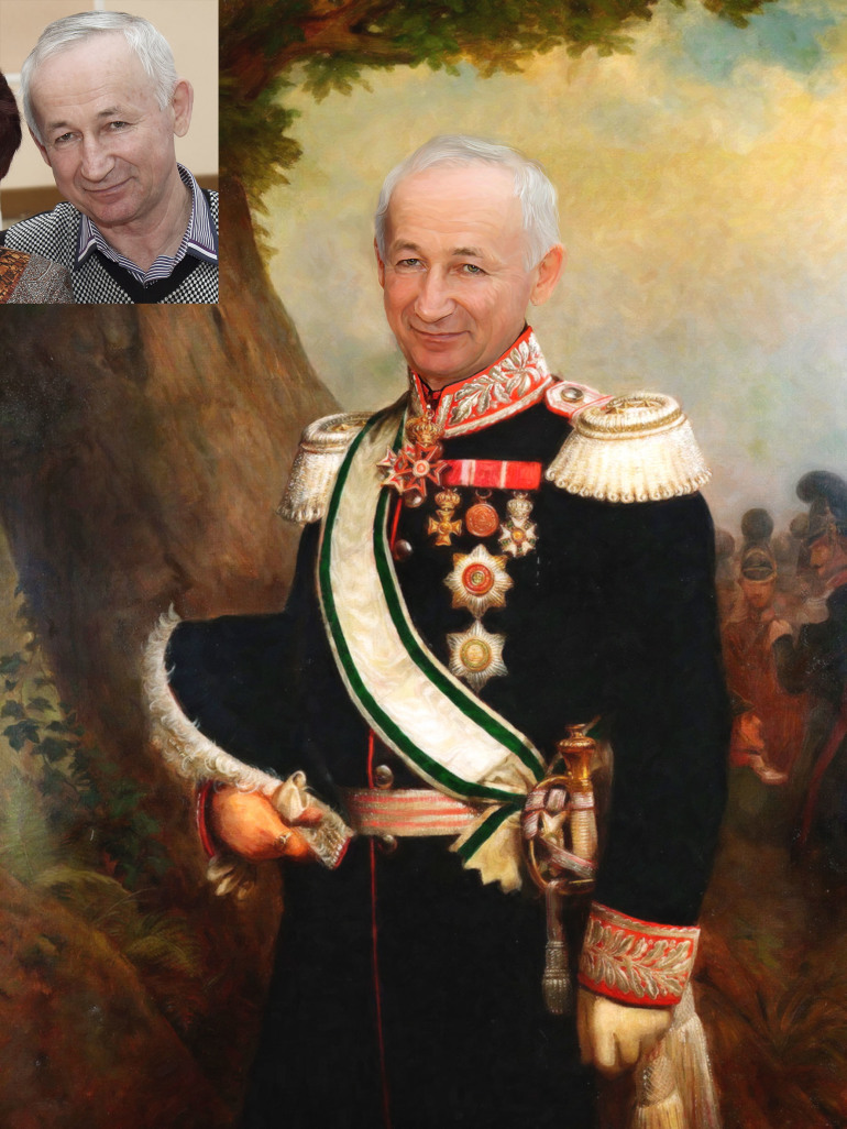 Где заказать исторический портрет по фото на холсте в Ижевске?