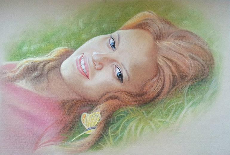 Настоящий портрет пастелью для любимой девушки в Ижевске, просто и со вкусом!