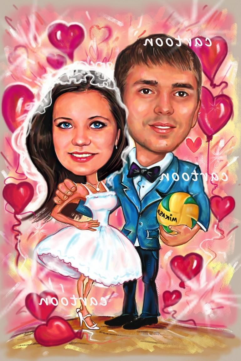 Свадебный шарж с оригинальным сюжетом в Ижевске!
