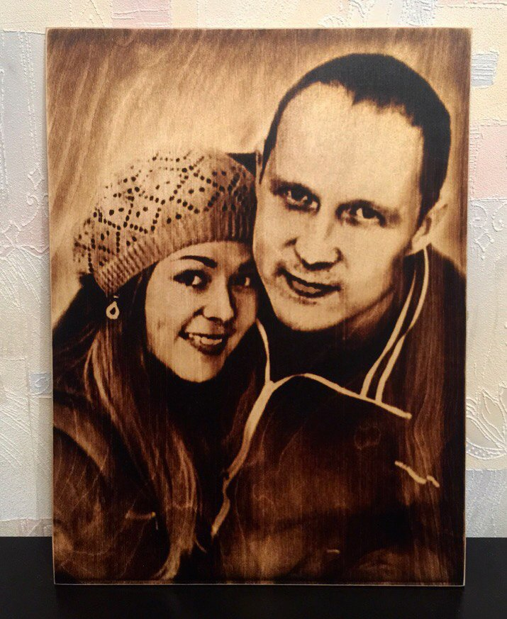 выжигание портретов по дереву на заказ в Ижевске