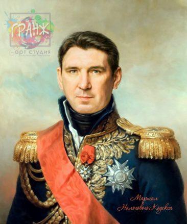 Портрет по фото на холсте в подарок мужчине на 23 февраля Ижевск