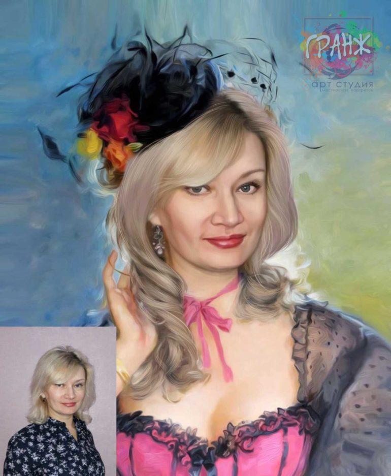 Заказать арт портрет по фото на холсте в Ижевске
