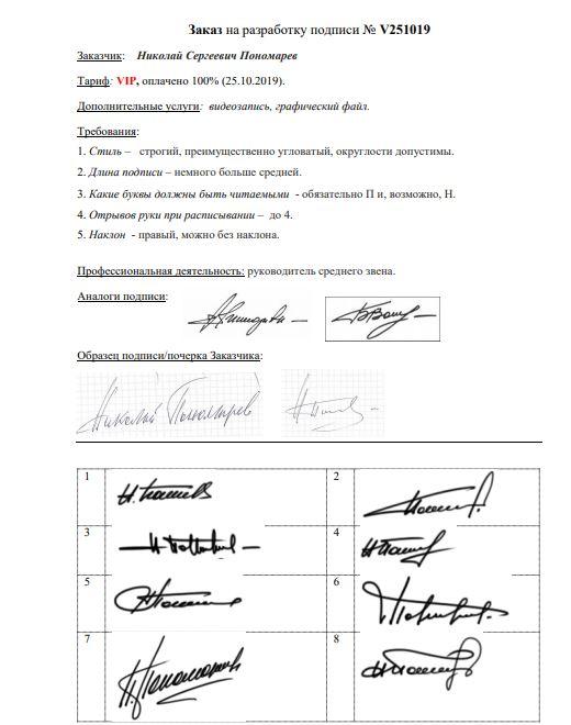 Разработка личной подписи онлайн Ижевск