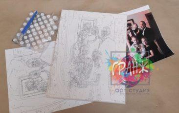 Картина по номерам по фото, портреты на холсте и дереве в Ижевске